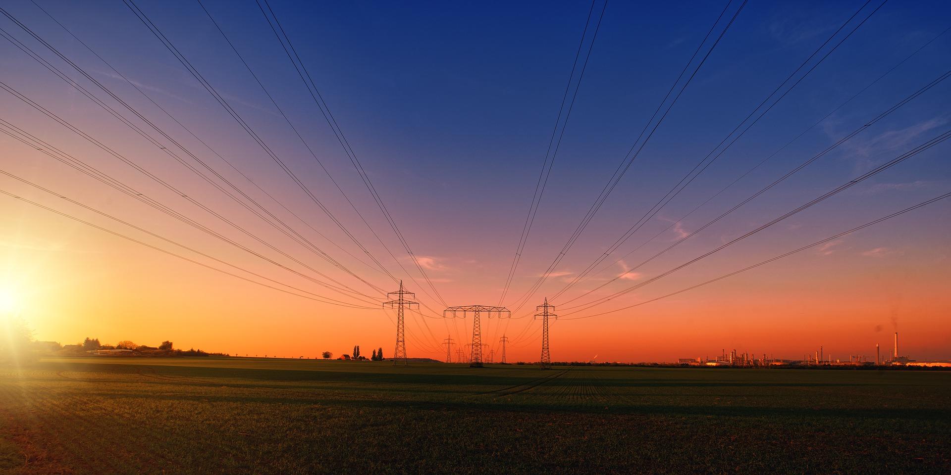 Elektrizität auf dem Feld